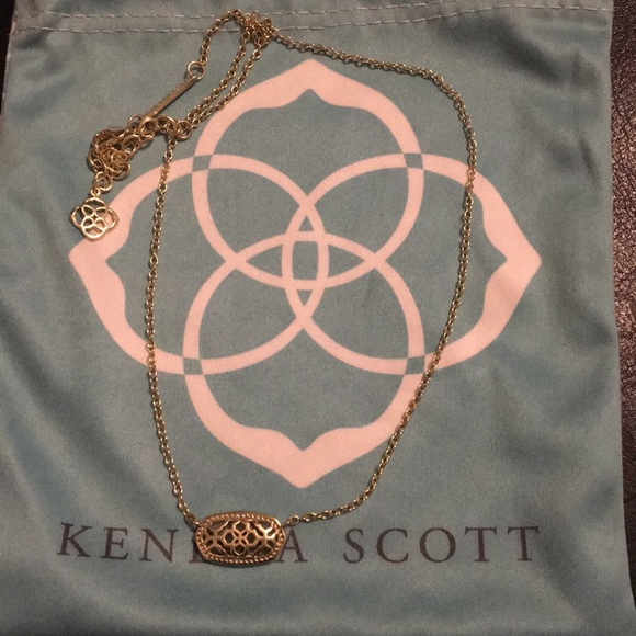 Kendra Scott Jewelry - EUC KS Gold Filagree Elissa